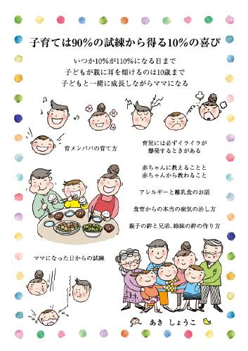 子育ては90%の試練から得る10%の喜び いつか10%が110%になる日まで 子どもが親に耳を傾けるのは10歳まで 子どもと一緒に成長しながらママになる